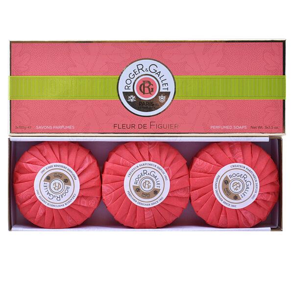FLEUR DE FIGUIER savons parfumés 3 x 100 gr by Roger & Gallet