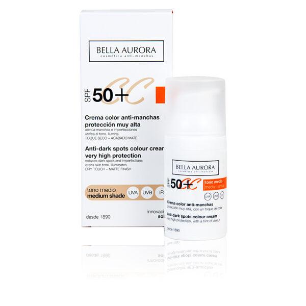 CC CREAM anti-manchas tono medio SPF50+ 30 ml by Bella Aurora