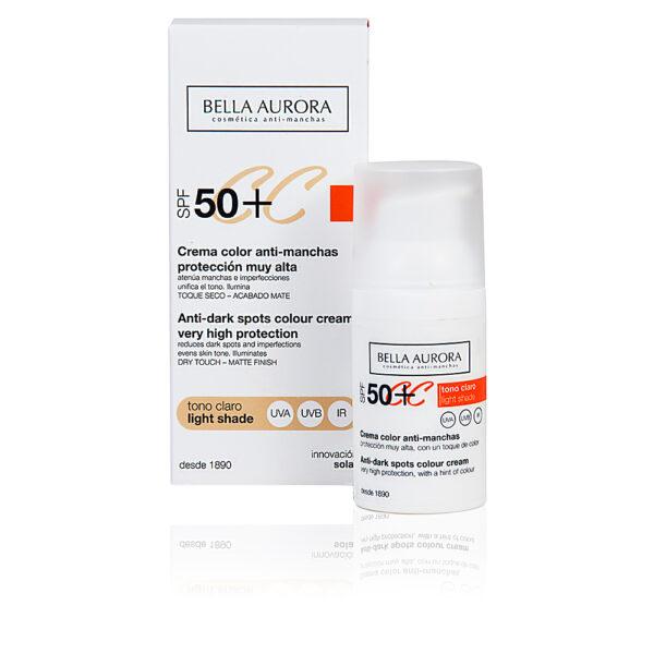CC CREAM anti-manchas tono claro SPF50+ 30 ml by Bella Aurora